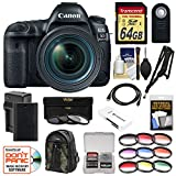 Canon EOS 5D Mark IV 4K Wi-Fi Digital SLR Camera & EF 24-70mm f/4L IS USM Lens + 64GB SD Card + Battery & Charger + Backpack + 12 Filters + Strap Kit