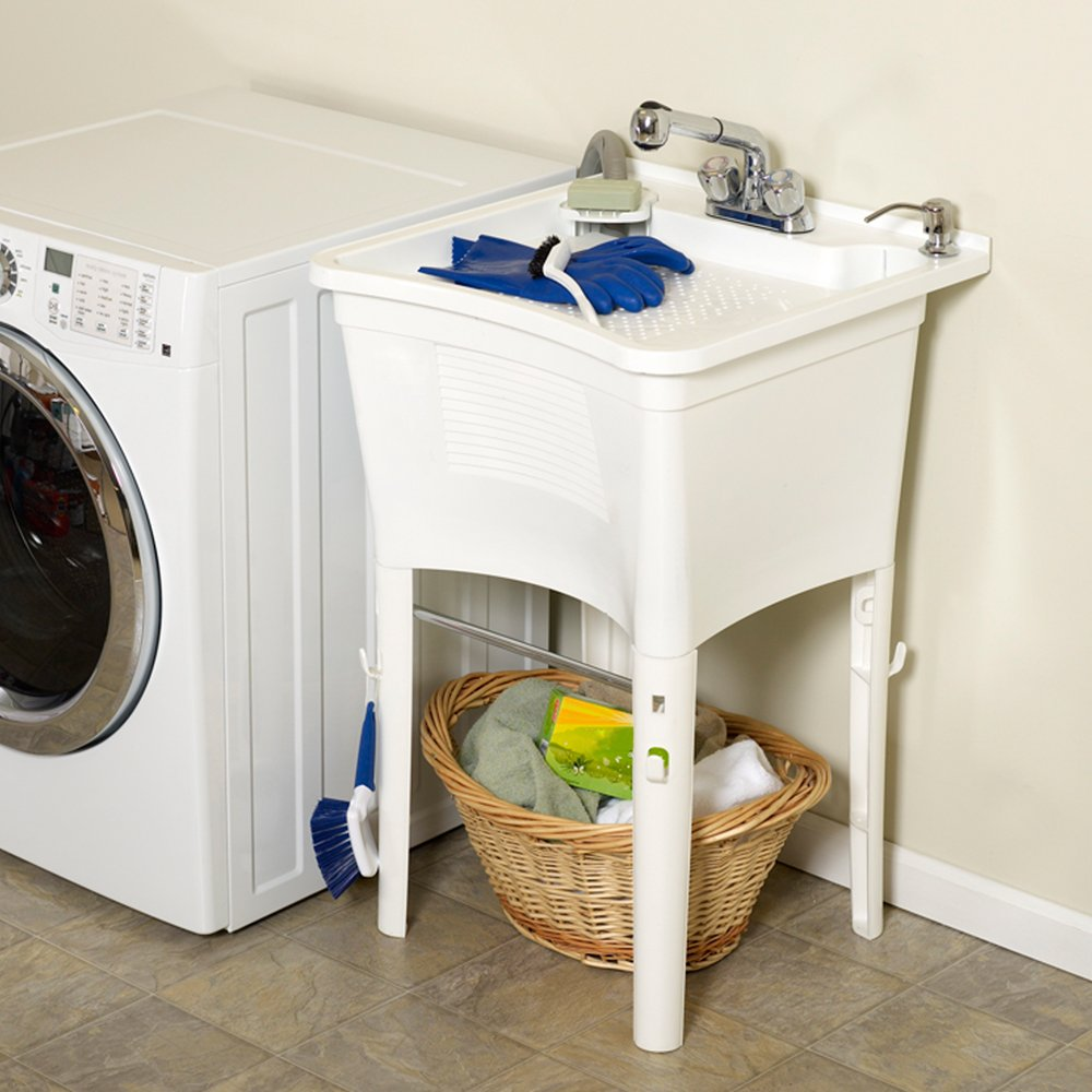 Amazon.com: Zenith LT2005W ErgoTub Full Featured Freestanding Laundry Tub:  Home U0026 Kitchen