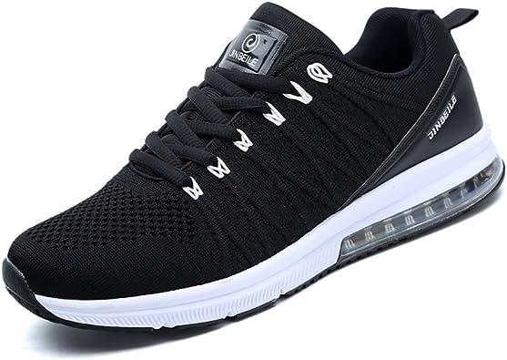 Mujer Zapatillas Trail Hombre Aire Libre y Deporte Burbuja de Aire Deportivas Sneakers Mujer Luz Respirable 36-44(Recomendar tamaño uno más): Amazon.es: Zapatos y complementos