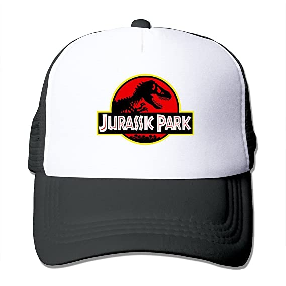 Hittings New Arrival Adult Unisex Jurassic Park Original Logo 100% Nylon Mesh Caps One Size
