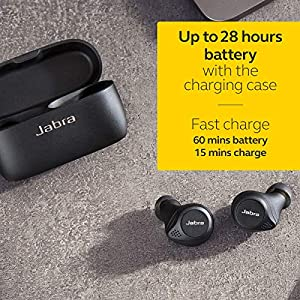 Jabra Elite 75t True Wireless Bluetooth Earbuds, with Charging Case, 4th generation, 28 Hours Battery, Voice Assistant Enabled, Black