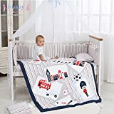 i-baby 9 Piece Nursery Crib Bedding Set for Newborn Baby Girls Infant Crib