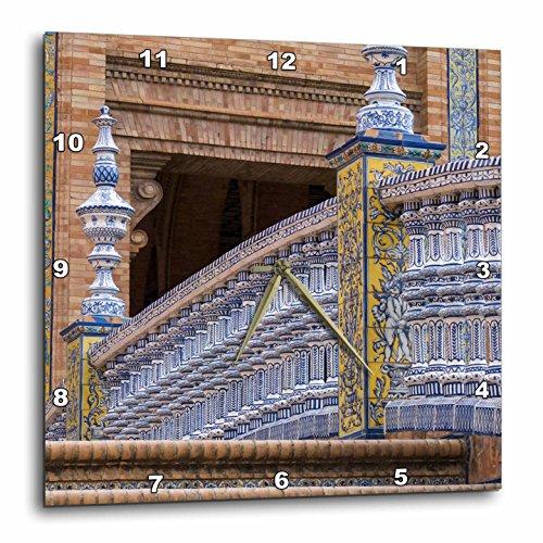3dRose Danita Delimont - Bridges - Spain, Andalusia, Seville. Plaza de Espana, regionalism architecture. - 15x15 Wall Clock (dpp_277886_3) by 3dRose