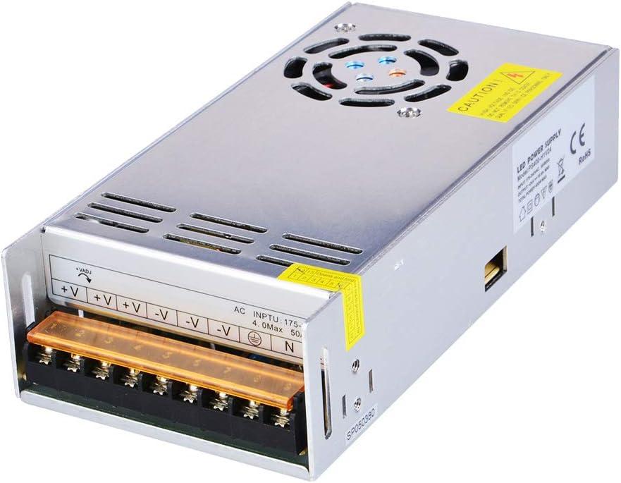 Dapenk Caja de Aluminio para interiore Fuente de alimentación PS 400W 24V para Bombilla LED (PS400-H1V24)