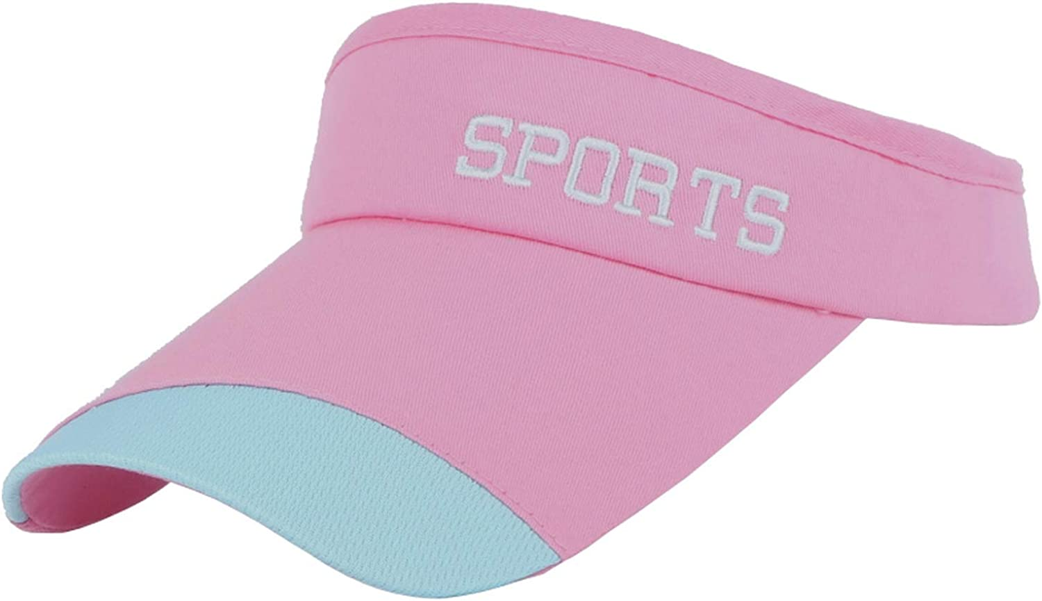CHENTAI Womens Mens Fashion Sports Visor Cap Solid Color Embroidery Sports Letter Elastic hat