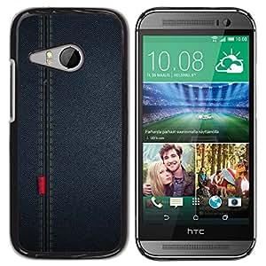 QCASE / HTC ONE MINI 2 / M8 MINI / paño de tela de costura patrón de diseño textil / Delgado Negro Plástico caso cubierta Shell Armor Funda Case Cover