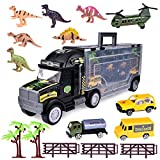 Best Matchbox Gift For 4 Year Old Boys - Dinosaur Matchbox Tow Truck Transport Racer Vehicle Trailer Review