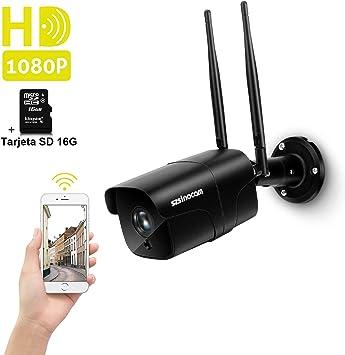 Cámara Vigilancia WiFi Exterior, SZSINOCAM Cámara de Vigilancia 1080P HD IP Camara Visión Nocturna de 30m, Detección de Movimiento, Alerta de Correo, Audio Bidireccional, iOS/Android/Windows: Amazon.es: Electrónica