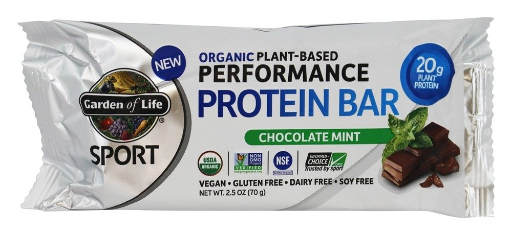 GARDEN OF LIFE BAR PROTEIN CHOCOLATE MINT OG, 70 GR