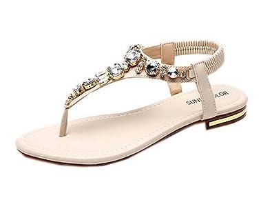 Sandale Nu Plate Boa Chaussure Femme Bijoux Y Tongs Pieds Fille 4ALR5j