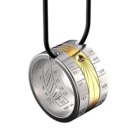 Reloj de sol HELIOS anillo solar de oro – anillo y colgante – reloj anular -
