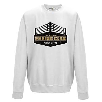 KiarenzaFD Sudadera Cuello Redondo Boxeo The History Boxing Club Brooklyn Gimnasio Sport 1 Hombre: Amazon.es: Deportes y aire libre