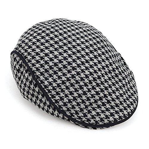 - Fall-Winter Houndstooth Pattern Newsboy Ivy Hat