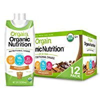 Orgain Organic Nutritional Shake, Iced Cafe Mocha - Meal Replacement, 16g Protein...