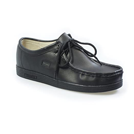 Tower Footwear Tower 1000 Black Napa Leather Shoes AmQALAw