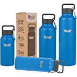 Healthy Human Water Bottle - Cold 24 Hrs, Hot 12 Hrs. 4 Sizes & 12 Colors. 100% Leak & Sweat Proof. Double Walled Vacuum Insulated Stainless Steel Thermos Flask with Carabiner & Hydro Guide.