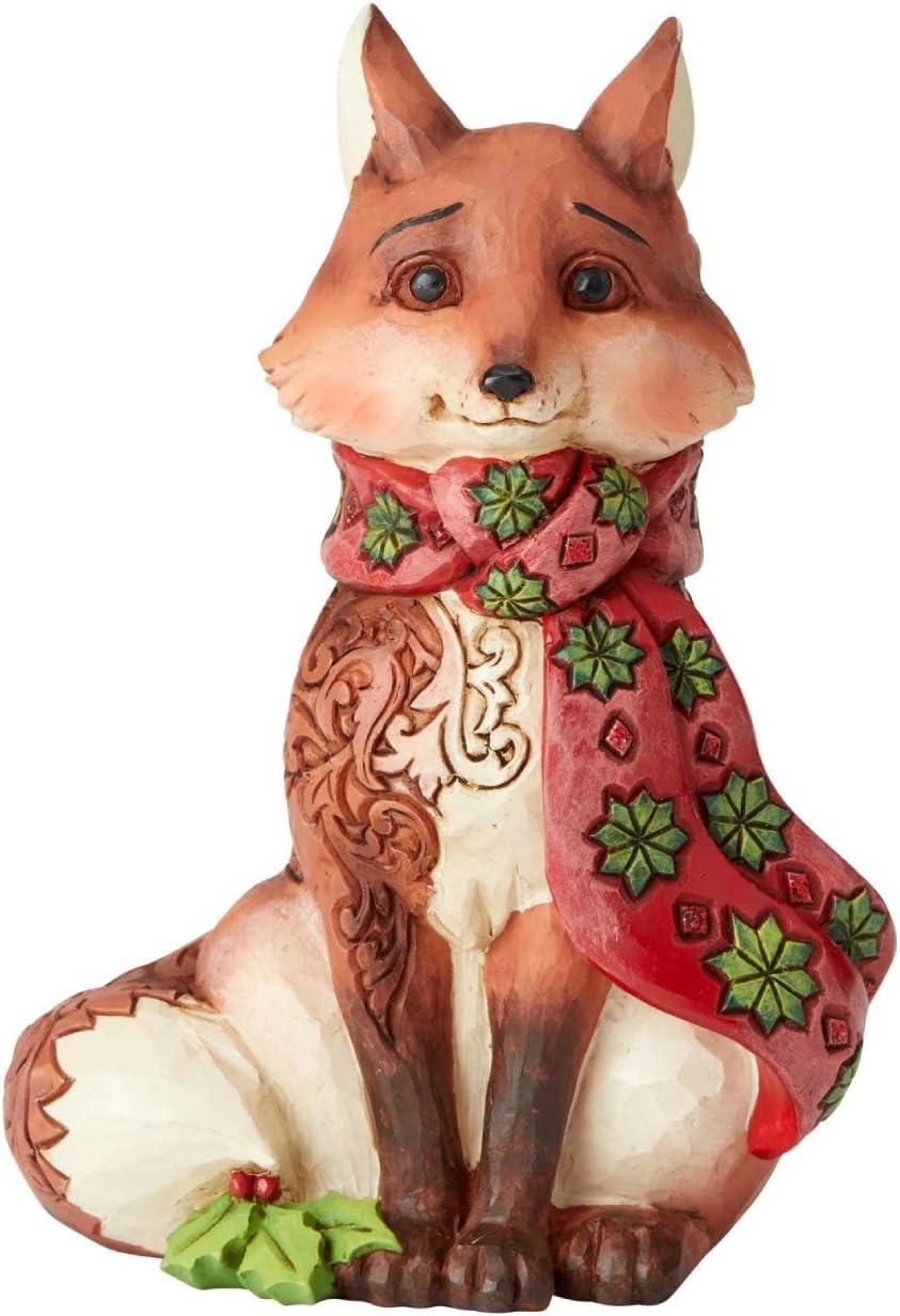 Enesco Jim Shore Heartwood Creek Winter Wonderland Fox Figurine, 5.31 Inch, Multicolor