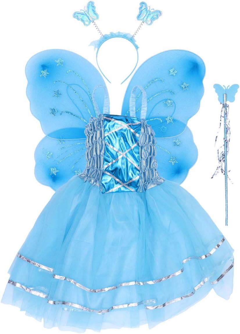 Amosfun - Disfraz de Mariposa para niña, Vestido de ala de baqueta ...
