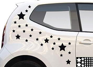 Kleb-drauf 4062257054102 25 Estrellas/Negro Pegatinas para decoración de Coches, Motor Ruedas