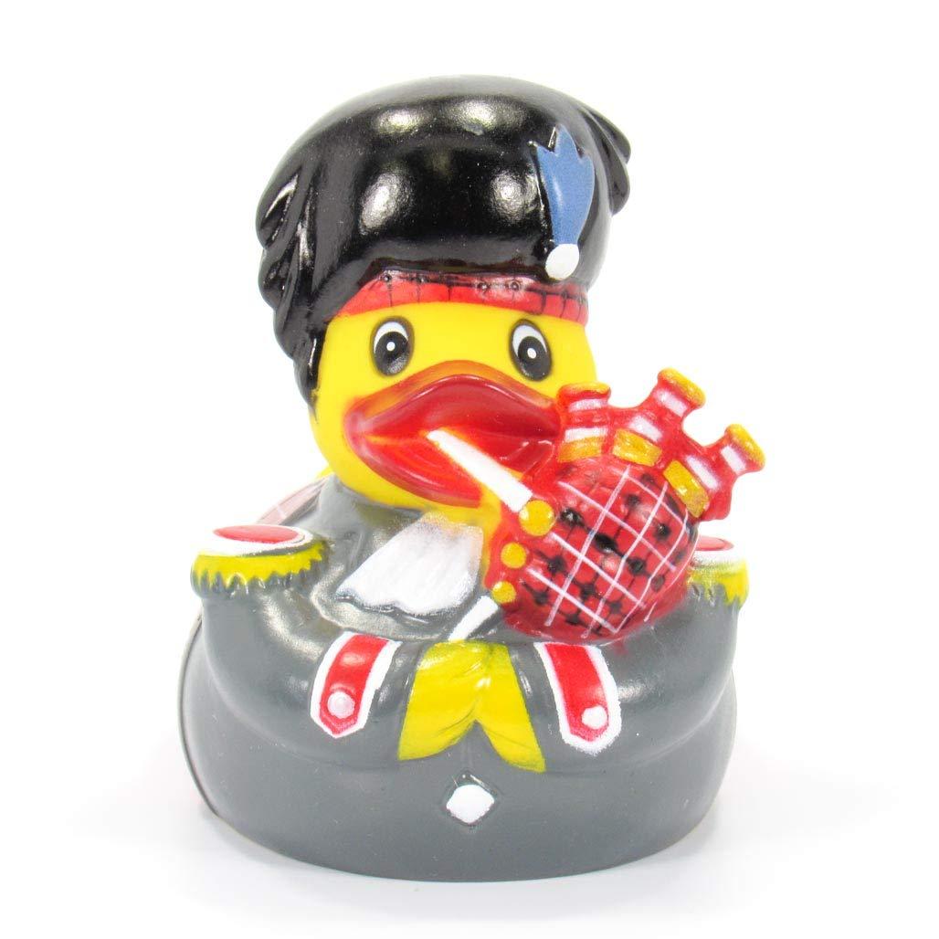Gummiente Schotte Badeente Ente Schottland Schottische Dudelsackspieler