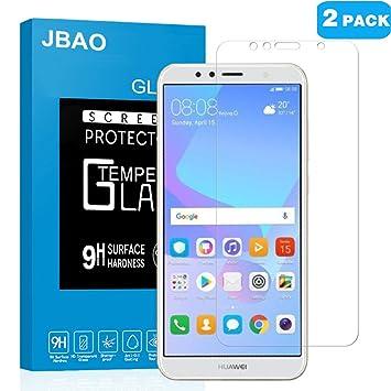 Amazon com: [2-Pack]Jbao Direct Huawei Y6 2018 Screen Protector