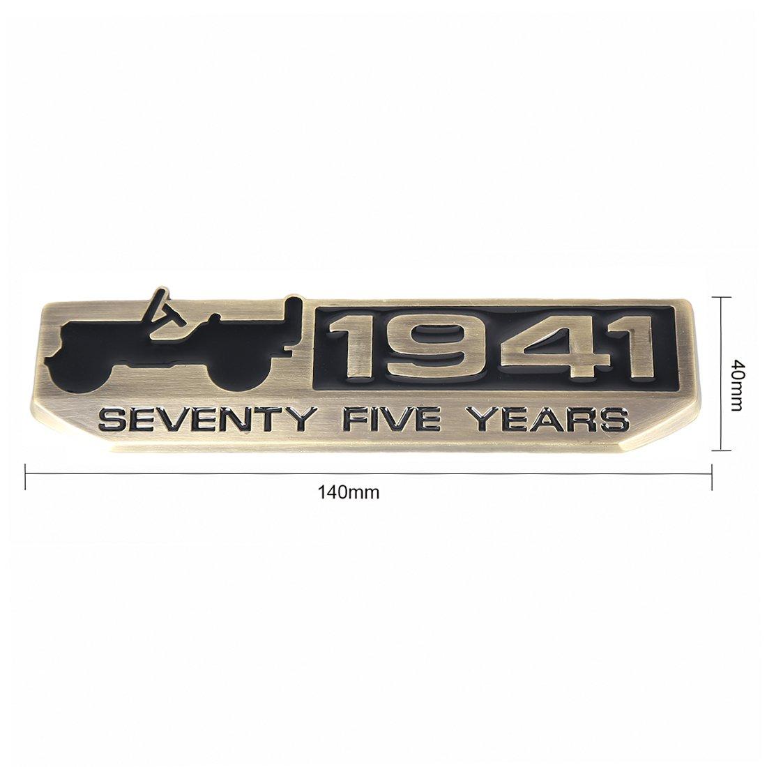 rojo negro SUPAREE 75 A/ño 1941 aniversario Metal emblema placa
