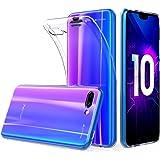 Peakally Coque Huawei Honor 10, Ultra Fine TPU Silicone Transparent Souple Housse Etui Coque pour Huawei Honor 10, Adhérence Parfaite/Anti Rayures/Anti-Scratch-Transparent