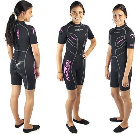 Amazon.com: Phantom Aquatics – Mujer Marino Shorty Wetsuit ...