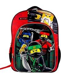 "Licensed Lego Ninjago Backpack 16"" Kid LARGE School Bag Large"