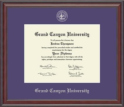 Amazon.com: Grand Canyon University Silver Embossed Diploma Frame ...