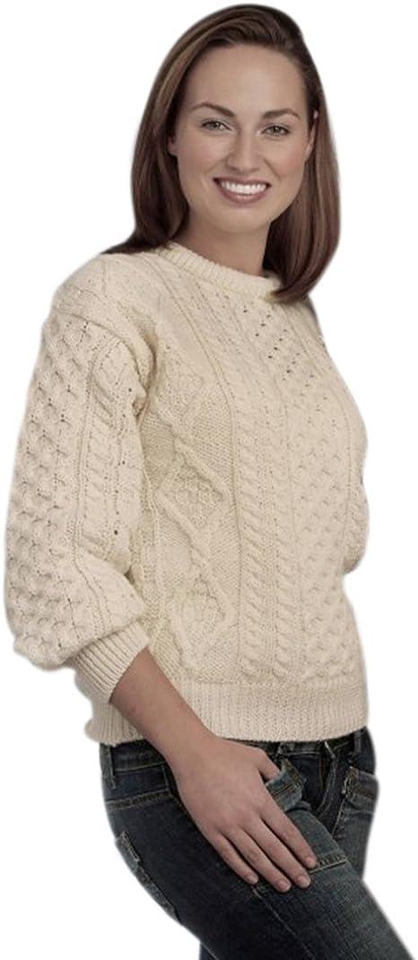 Mens Aran Jumper Knitting Pattern by Wooly Knits
