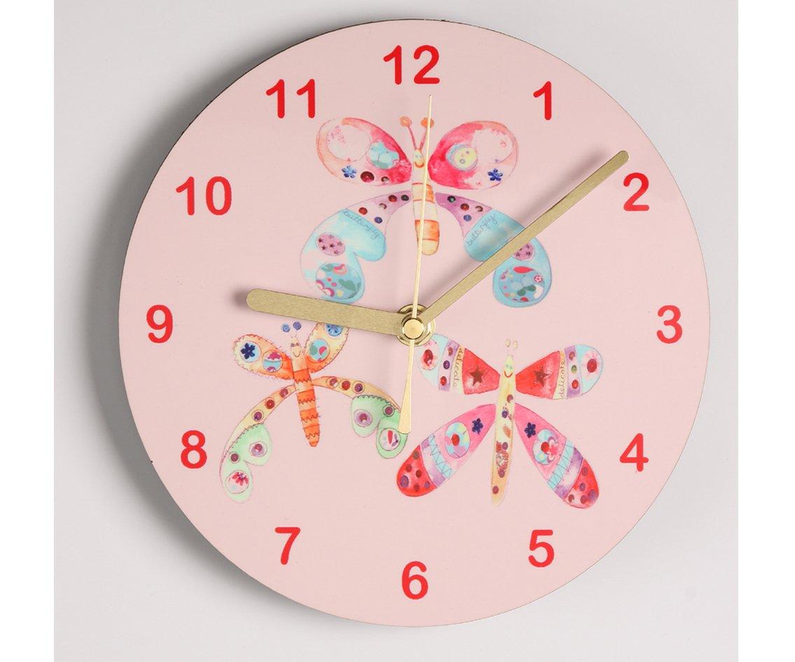 Butterfly clockgirls clockchildrens clock amazon kitchen butterfly clockgirls clockchildrens clock amazon kitchen home amipublicfo Choice Image