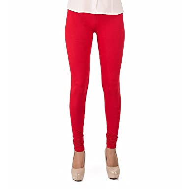 b430dc81f5588b Trasa Cotton Lycra Women's Churidar Leggings - Size :- Large, Red (Brand  Outlet): Amazon.in: Clothing & Accessories