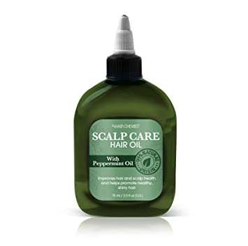 Hair Chemist Scalp Care Hair OIl with Peppermint Oil 2.5 oz. (Pack of 3