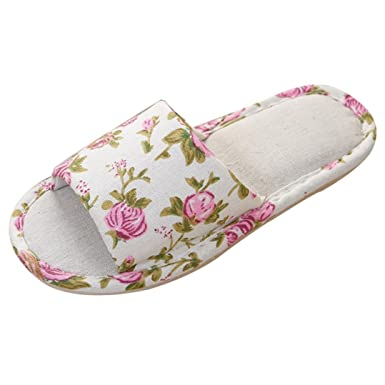 4c03b9ae2 Women Men Fashion Hemp Slippers Casual Household Shoes House Slippers  Indoor Outdoor Couple Slides