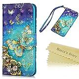 iPhone 6 Case,iPhone 6S Case,Mavis's Diary PU Leather 3D Handmade Bling Crystal Diamonds