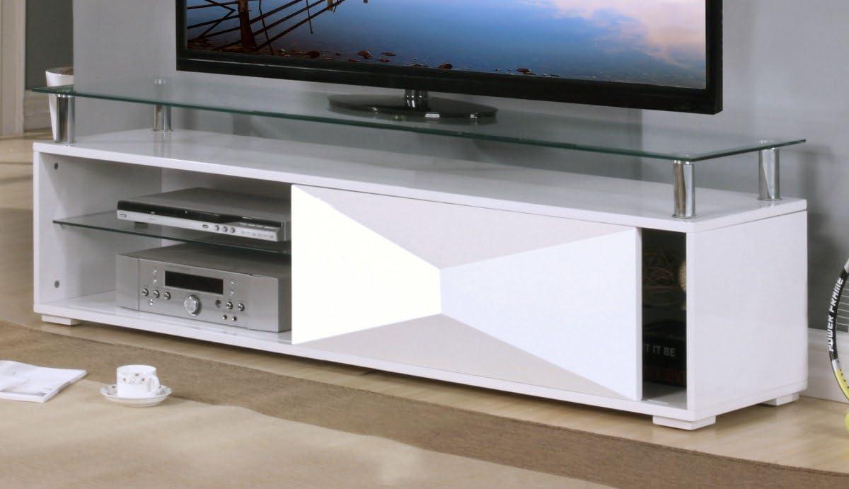 UniqueChic Furniture Rowley Blanco de Alto Brillo Pantalla ...