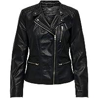 Only Onlfreya Faux Leather Biker Otw Noos Chaqueta para Mujer