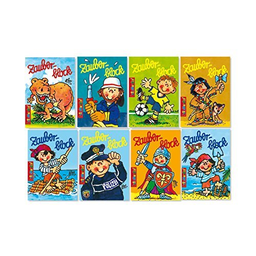 Jungen Zauberblock Malblock A8 Gemischte Motive M/ädchen Kindermalbuch Mitgebsel Lutz Mauder 16x Zauberbl/öckchen 12 Buntstifte