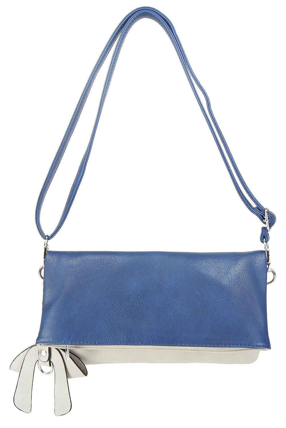 CASAdiNOVA Damen Tasche 2in1 Set Clutch Umhängetasche Modern Bag (Farbauswahl) Vegan Leder 29cm/16cm/3cm