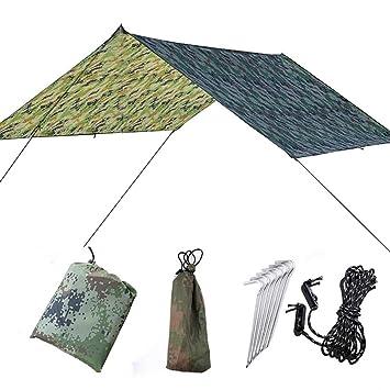 Fdit wasserdichte UV Schutz Zelt Plane Camping Backpacking Plane Shelter Shade Segel Sonne Baldachin Outdoor Supplies MEHRWEG VERPACKUNG