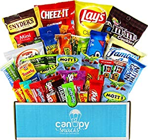 Classic Snacks Care Package, snack gift, college assortment variety pack bundle - Canopy Snacks(30 count)