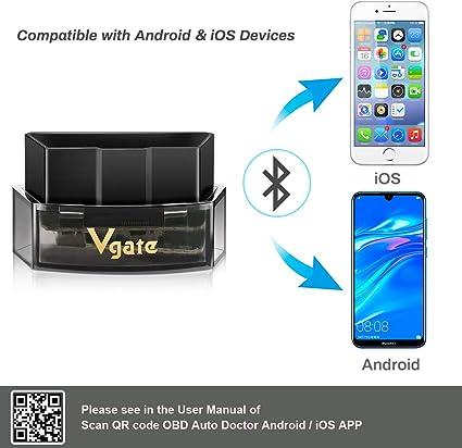 CAR WORK BOX OBD2 Bluetooth 4.0 Diagnostic Scanner ELM327 OBD II Adaptateur sans-Fil Lecteur de Code de D/éfaut pour Android iOS Windows
