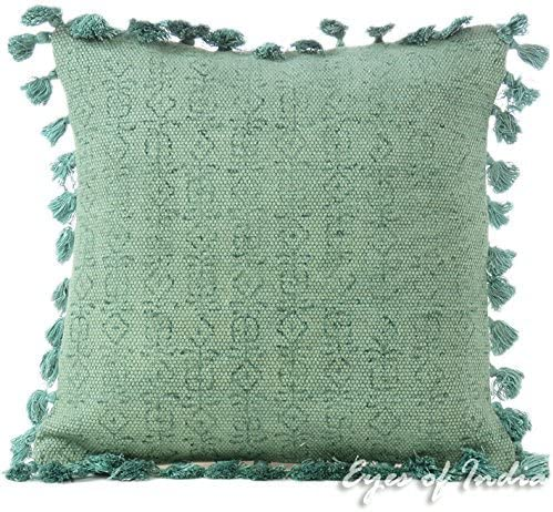 Bunt Dekoratives Kissen, Hellgrün