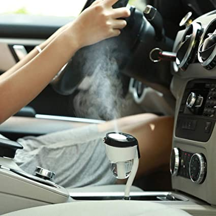 Vyaime Car Diffuser Humidifier, Essential Oil Aromatherapy Diffusers with Dual USB Charger Adapter, Ultrasonic Air Refresher Purifier for Vehicle