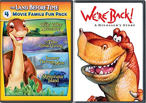 We're Back + The Land Before Time II-V 5-Movie Family Fun Pack (The Great Valley Adventure / The Time of the Great Giving / Journey Through the Mists / The Mysterious Island) A Dinosaur Story Movie (The Land Before Time Invasion Of The Tinysauruses)