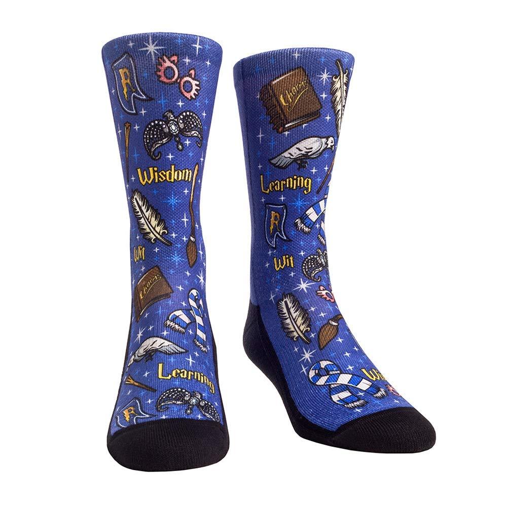 Rock Em Elite Wizard House Blue Ravenclaw Crew Socks