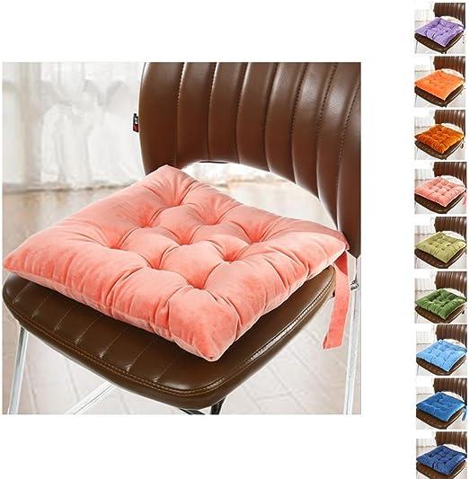 Worsendy Cuscino Sedia, Cuscini per Giardino,Adatto per Interni ed Esterni,40x40x6cm,Disponibile in Tanti Colori Diversi,Cuscini per sedie da