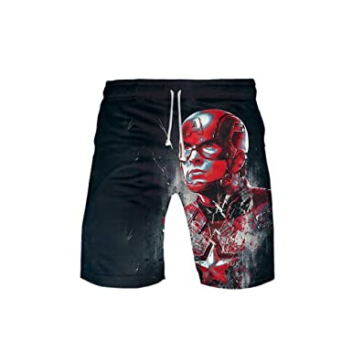 4f2fc88b92 Amazon.com: Reorzon Boys Casual Beach Trunks Quick-Drying Swimming Suits,  Avengers Endgame 3D Printed: Clothing