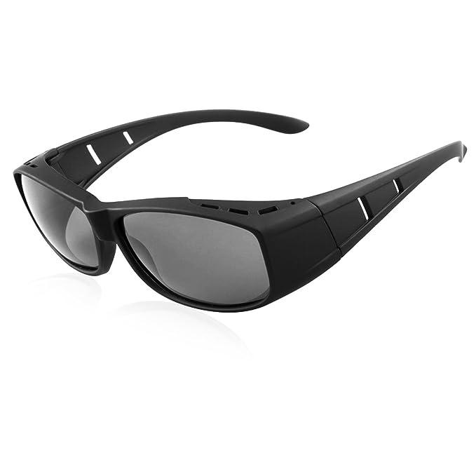 Perfectmiaoxuan Gafas de sol polarizadas Hombre Mujer/desgaste sobre Rx/ajuste sobre gafas de